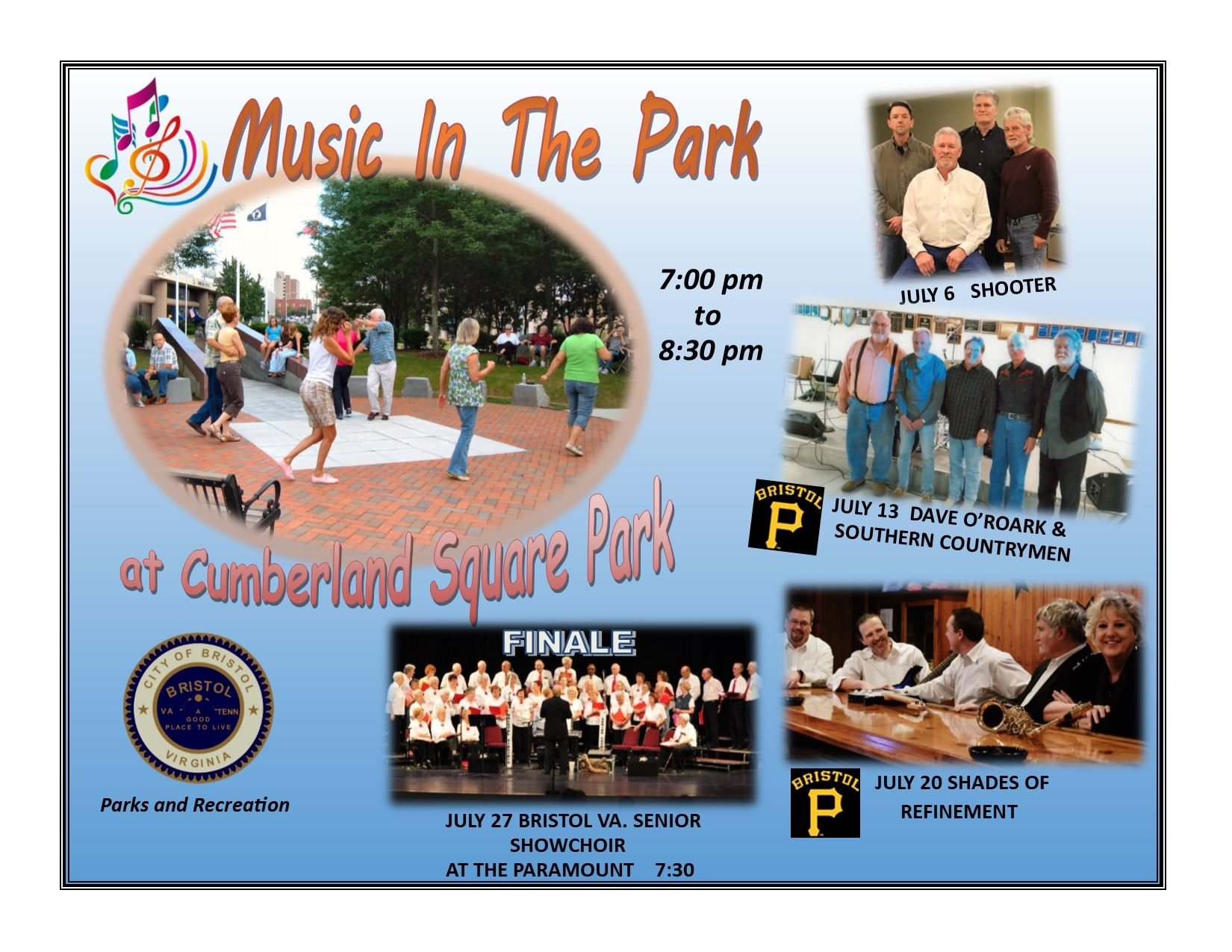 Music In The Park Poster 2017